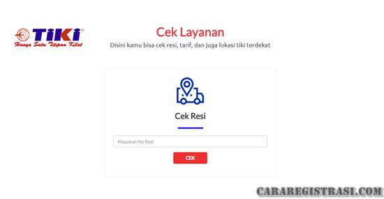 CEK RESI TIKI VIA WEBSITE