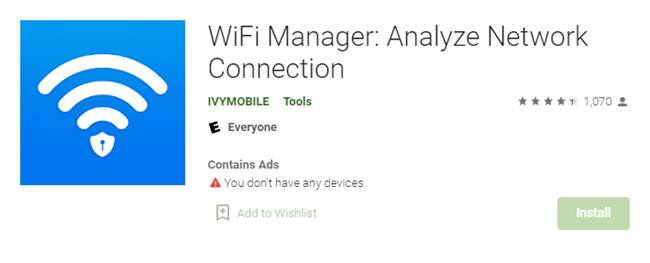 WiFi Manager Analyze Network Connection